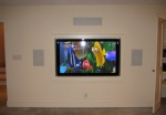 Recessed Flat Panel with In-Wall Speakers